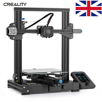 UK Plug Creality Ender 5 3D Printer 220X220X300 Higher Precision Due Y-axis • 329.99£