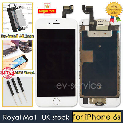 White Screen For IPhone 6s Replacement Digitizer LCD Touch Home Button Camera • 15.93£