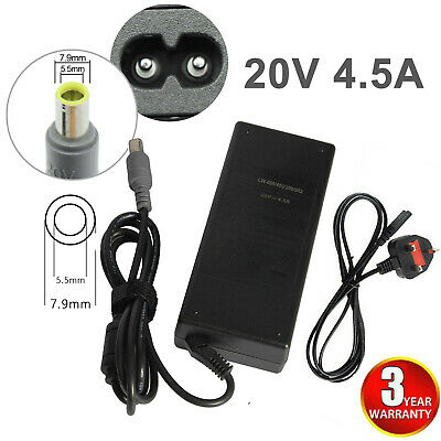 Laptop Charger For Lenovo Thinkpad T400 T410 T420 T430 Z50 20V 4.5A AC Adapter • 8.99£