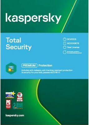 KASPERSKY TOTAL SECURITY 2021  5 PC MULTI DEVICE - 2 YEARS COVER - Download • 34.75£