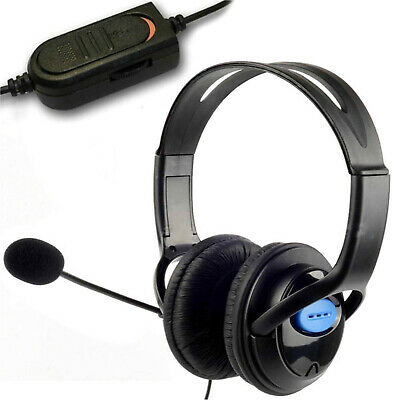 Deluxe Pro Headset Headphones Microphone With Mic Volume Control For Ps4 Xbox Pc • 6.95£