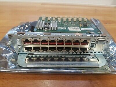 Cisco 16-Port 10/100 EtherSwitch Network Module NM-ESW-16 • 29.95£