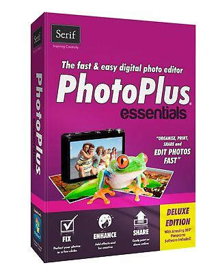PhotoPlus Essentials By Serif Pc. Disc.  New • 16.99£