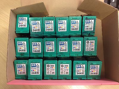 18 X GENUINE HP EMPTY INK CARTRIDGES - 344 Tri Colour - NEVER REFILLED • 32£