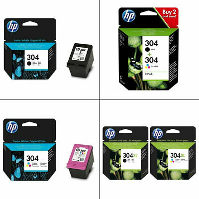 Genuine HP 304 / 304XL / Black / Colour Ink Cartridges For DeskJet 2632 Printer • 24.99£
