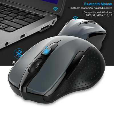 TECKNET Bluetooth Wireless Mouse W 6 Buttons DPI Adjustable For PC Laptop Tablet • 14.99£