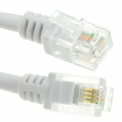 2m ADSL2+ High Speed Broadband Modem Cable RJ11 To RJ11 WHITE • 2.19£