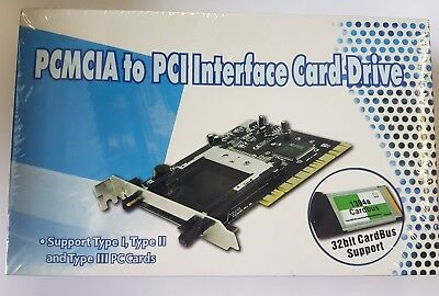 PCMCIA To PCI Interface Card Drive **UK SELLER** • 9.99£