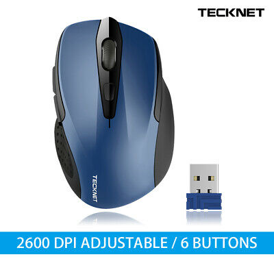 TeckNet Bluetooth Mouse 2600DPI Adjustable Optical Wireless Mice For PC Laptop • 12.95£