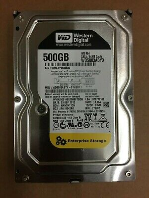 Western Digital WD5003ABYX 500GB WD RE4 3.5  Serial ATA II • 11.99£