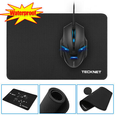 Black Large Gaming Mouse Mat Non-Slip Waterproof Pad Rubber Base For PC Laptop • 5.88£