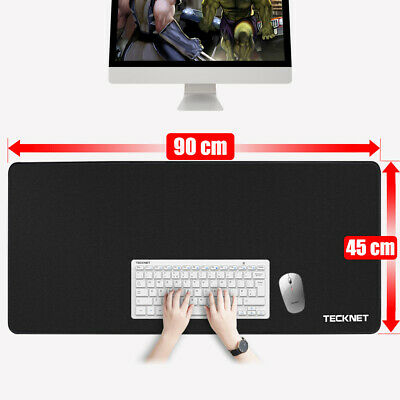 Extended Gaming Mouse Pad Extra Large Size Desk Keyboard Mat 900MM X 450MM Black • 11.99£