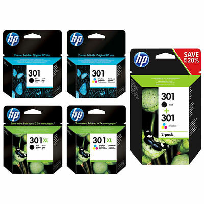 Original HP 301 / 301XL Black / Colour Ink Cartridges For Deskjet 1000 1050 2050 • 24.82£