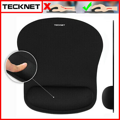Black Anti-Slip Mouse Pad Mouse Mat Gel Wrist Rest Support For Laptop Macbook PC • 6.99£
