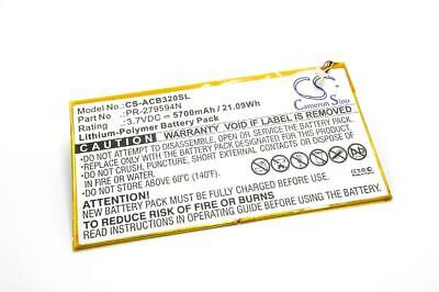 Battery 5700mAh Li-Po For Acer Iconia One 10 B3-A30, Tab 10 A3-A40 • 24£