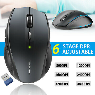 TeckNet Wireless Mouse 4800 DPI 2.4G Optical Cordless Mice Scroll For PC Laptop • 10.49£