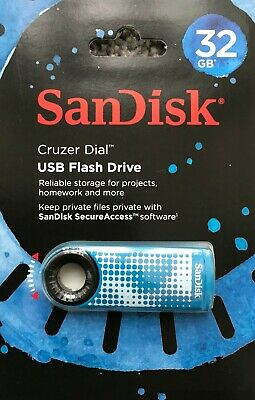 Sandisk Cruzer Dial 16GB 32GB 64GB Usb 2.0 Memory Stick Flash Pen Thumb Drive • 5.97£