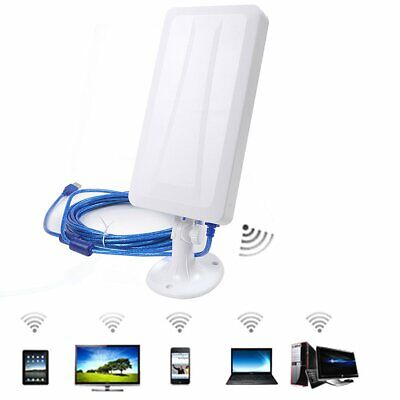 WiFi Outdoor 2.4Ghz Antenna Aerial Signal Booster Laptop Computer USB Powered • 17.99£