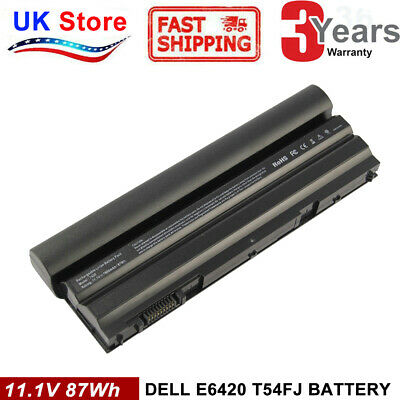 9Cell Battery For Dell Latitude E6440 E6430 T54FJ E6420 E6520 E6540 E5430 E5420 • 20.99£