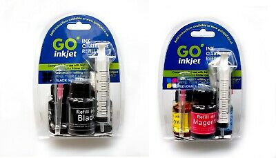 Canon Printer Ink Refill Kit For Refilling Canon Black And Colour Ink Cartridges • 10.95£