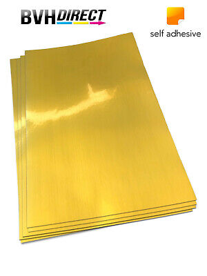 Silky Gold Self Adhesive A4 Inkjet Printing Paper Labels PET Film 20 Sheets • 6.99£