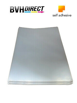 Silky Silver Self Adhesive A4 Inkjet Printing Photo Paper PET Film 20 Sheets • 6.99£