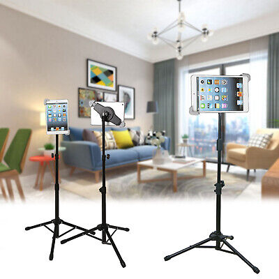 360 Rotating Foldable Tripod Stand Mount Holder For Ipad 1 2 3 4 Air Adjustable • 13.99£