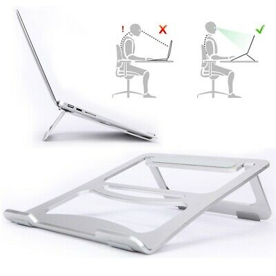Portable Folding Aluminium Alloy Laptop Table Stand Tray Holder For Macbook Pro • 13.90£