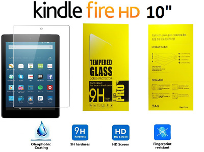 100% Genuine Tempered Glass Screen Protector For AMAZON KINDLE FIRE HD 10.1   • 3.99£