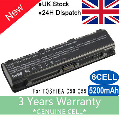 REPLACEMENT For TOSHIBA PA5109U-1BRS LAPTOP BATTERY PA5024U-1BRS L850 L870 M800 • 12.99£