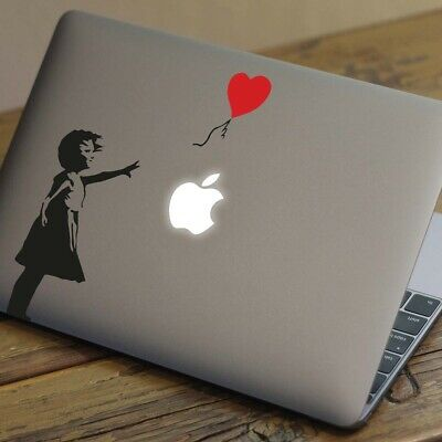 BANKSY BALLOON Apple MacBook Decal Sticker Fits 11  12  13  15  And 17  Models • 4.99£