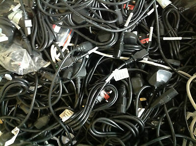JOB LOT OF 50 3Pin UK KETTLE LEADS FOR MONITOR,PC,HDTV ,POWER CABLE MIX SIZE  • 39.99£