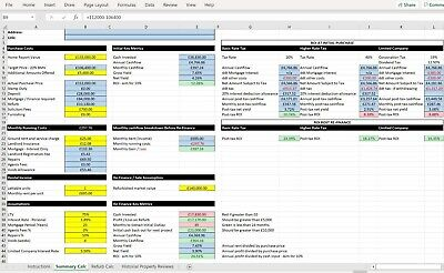 Ultimate Property Investment Excel Spreadsheet Calculator • 3.50£