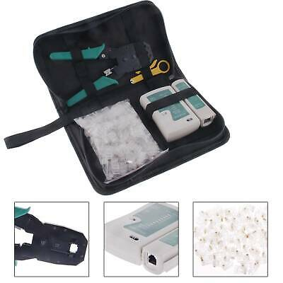 RJ45 Ethernet Cable Tester Crimper Stripper Cutter Punch Down Tool Network Kit • 8.89£