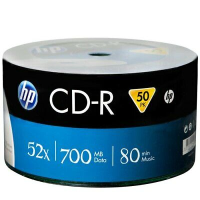 300 HP Hewlett Packard, Logo Branded CD-R Packed 50s 700mb Brand New Stock • 45.50£