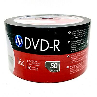 300 HP Hewlett Packard, LOGO Non Printable DVD-R Packed 50s  Brand New Stock • 47.50£