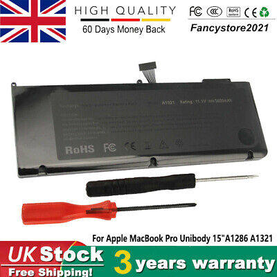 For Apple MacBook Pro Unibody 15  Inch A1286 Mid 2009 2010 A1321 Battery MB985 • 21.99£
