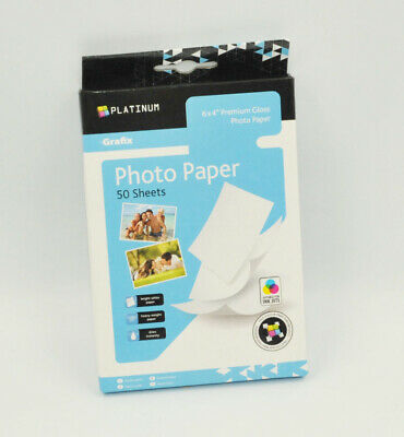 50 Sheets 6x4'' 220Gsm High Glossy Photo Paper For Inkjet Paper Printing • 2.99£