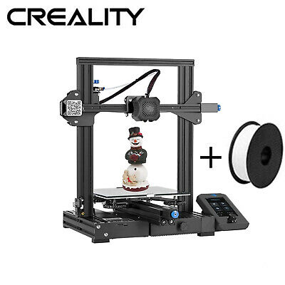 Creality Ender 3 3D Printer + Glass Bed 220X220X250mm DC 24V UK Plug UK Stock • 219£