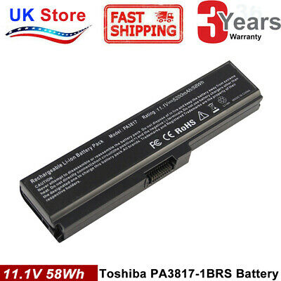 L750 PA3817U-1BRS Laptop Battery For Toshiba Satellite L745 L750 L755 L755D PC • 12.99£