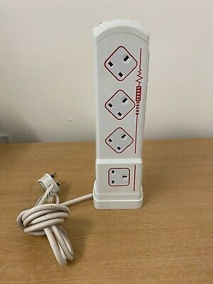 Masterplug Surgeguard 10 Way Surge Protected Indoor Electrical Extension Socket • 16.95£