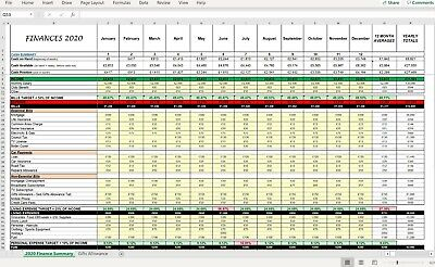 Ultimate Excel Spreadsheet Personal Finance & Household Budget Template • 3.79£
