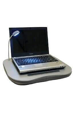 Laptop Cushion Portable Reading Lap Top Tray Table With 5 Led Light & Cup Holder • 11.95£