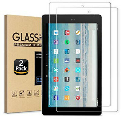 2PC Genuine Tempered Glass Screen Protector For Amazon Kindle Fire HD 10  2017 • 3.99£