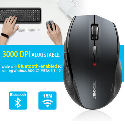 TeckNet Bluetooth Wireless Mouse 3000 DPI Optical Cordless Mice For PC Laptop • 11.99£