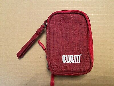 BUBM Electronic Accessories Carry Bag, Double Layer Travel Case - Small - Red • 8.99£