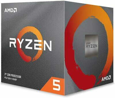 AMD Ryzen 5 2600 CPU With Wraith Cooler, AM4, 3.4GHz (3.9 Turbo), 6-Core, • 129.99£