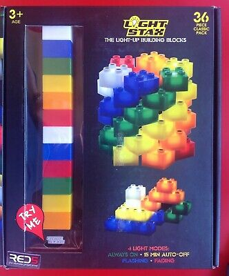 Light Stax Light-up Building Blocks 36 Piece + Base Excellent Condition USB • 11.99£
