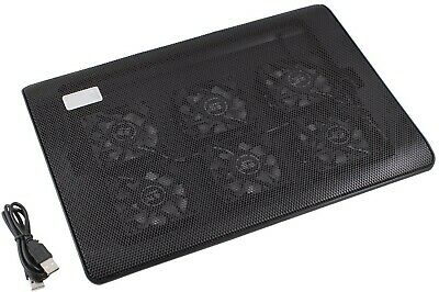 6 Fan Slim Laptop Cooling Pad For 11 - 17  Devices With USB Hub • 3.20£