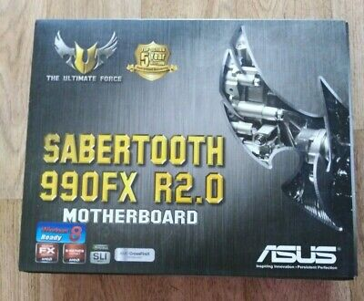 ASUS SABERTOOTH 990FX R2.0, AM3+, AMD Motherboard (Boxed) • 50£